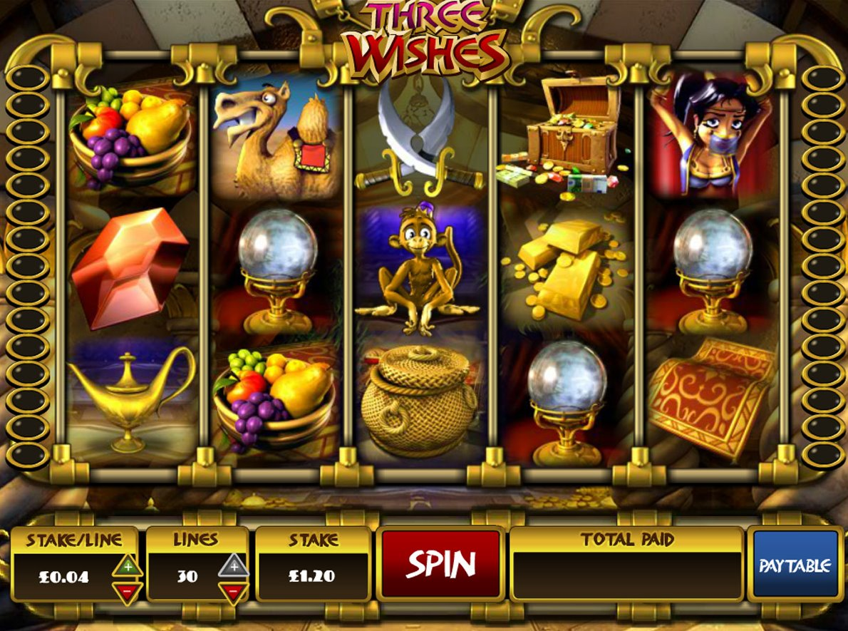 Three Wishes Slots - Free Three Wishes 3D Slot Game Here
