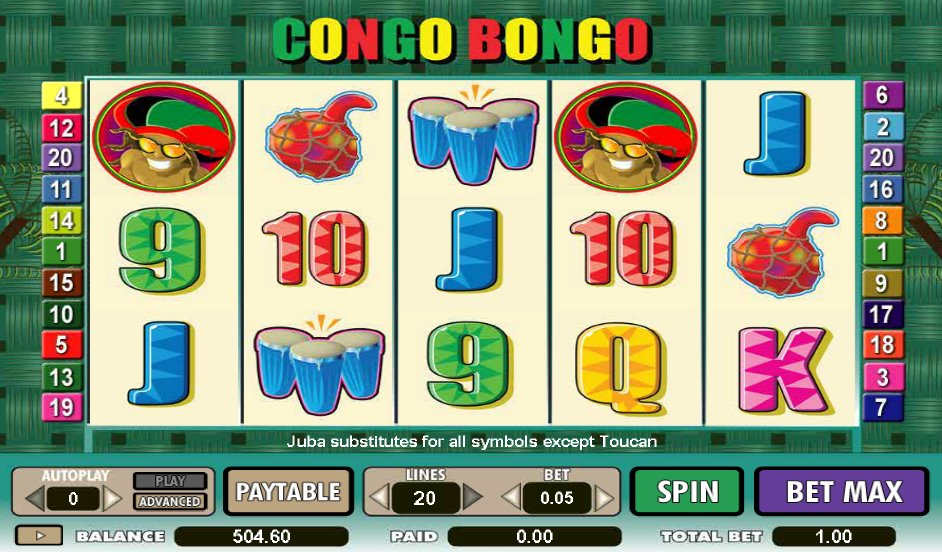 Congo Bongo Slot Machine - Free Online Casino Game by Amaya