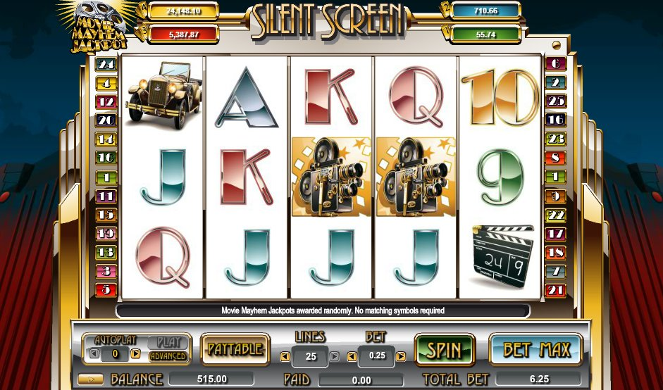Silent Screen Slots - Review & Free Instant Play Game