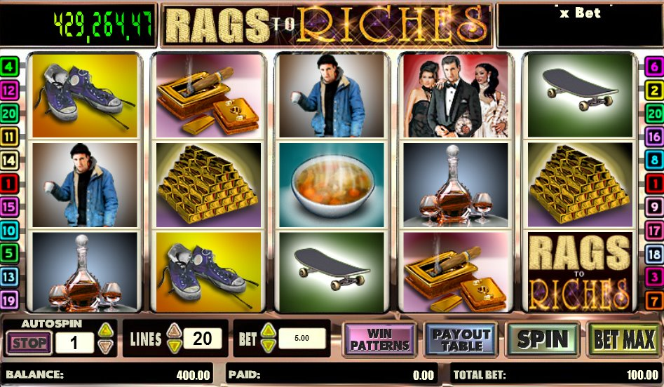 Rags to riches slot machine horizontal slot mortising machine