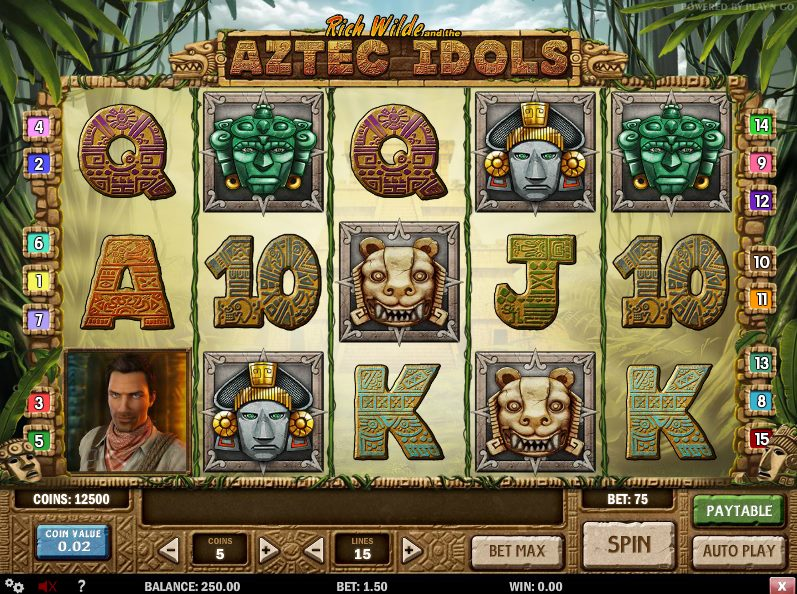 Play Aztec Idols Slots from Play N Go Free Here