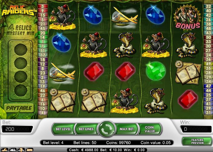 Relic Raiders slots - spil Relic Raiders slots gratis online.