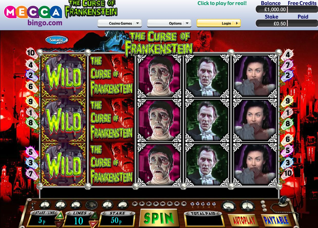 The Curse of the Frankenstein Slots - Play for Free Online
