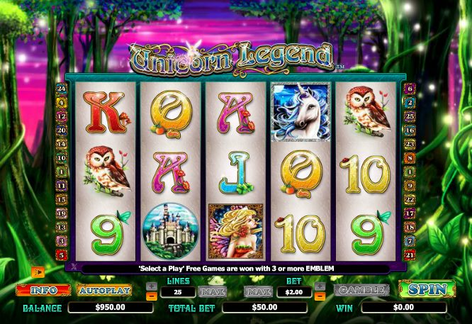 free unicorn video slots