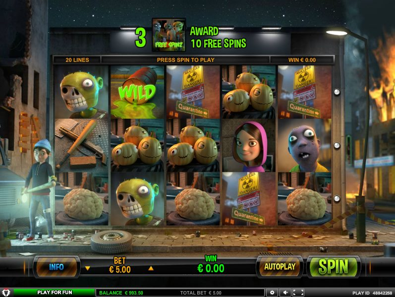 zombie rush online slot game by leander games