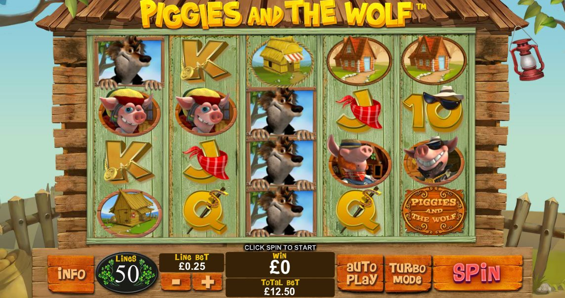 Play Piggies and the Wolf online slots at Casino.com