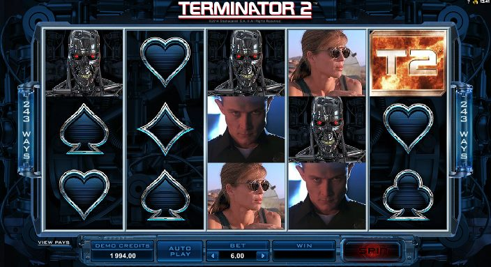 The Terminator™ Slot Machine Game to Play Free in PartyGamings Online Casinos