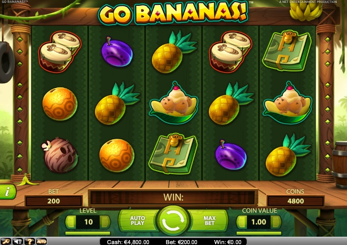 Go Bananas Slot Machine - Play the Hit Game by NetEnt Online