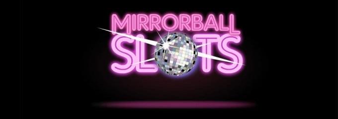 Mirrorball slots logo