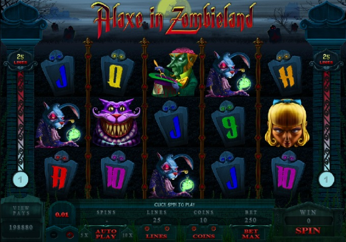 Alaxe in Zombieland slot