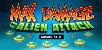 Cover art for Max Damage and the Alien Attack slot