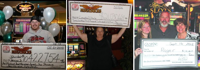 Megabucks jackpot slot winners