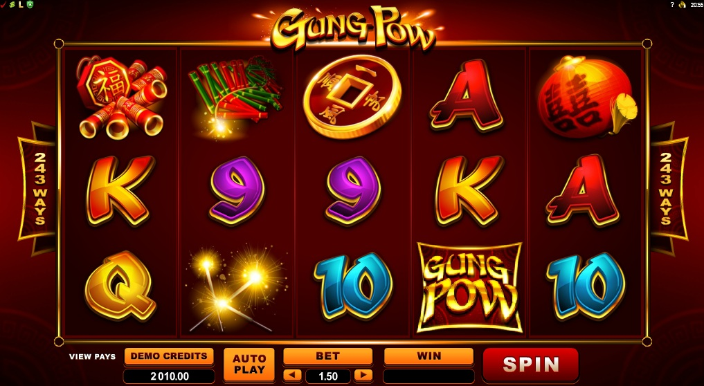 gung pow slot chinese new year microgaming