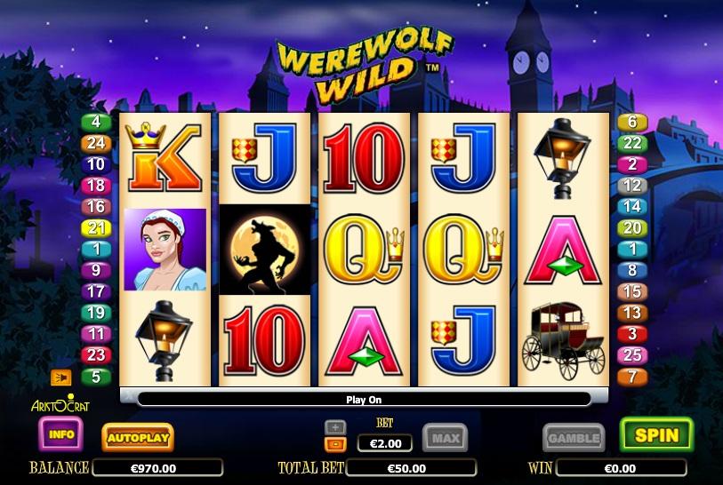 Slot Werewolf Wild –spielen Sie Werewolf Wild von Aristocrat