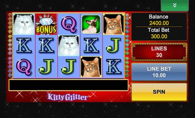 play glitter slot machine free