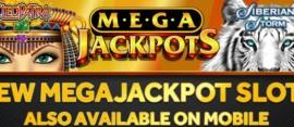 Megajackpots on mobile and desktop
