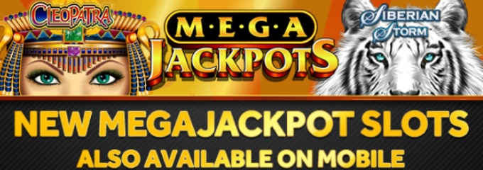 Megajackpots on mobile and desktop
