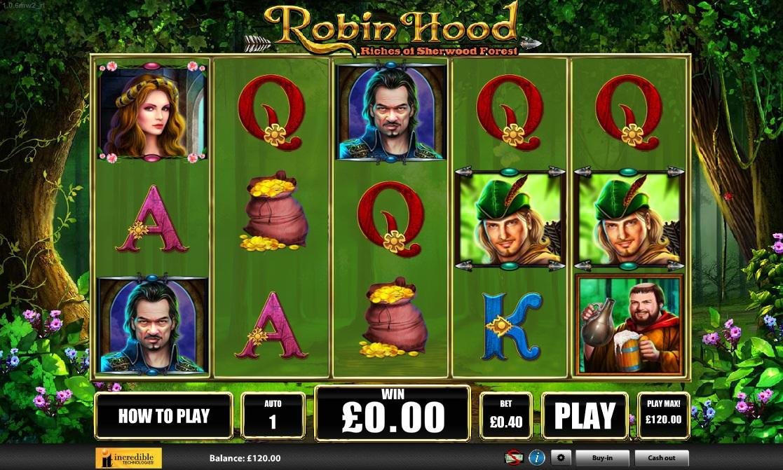 ผลการค้นหารูปภาพสำหรับ Robin Hood Slot