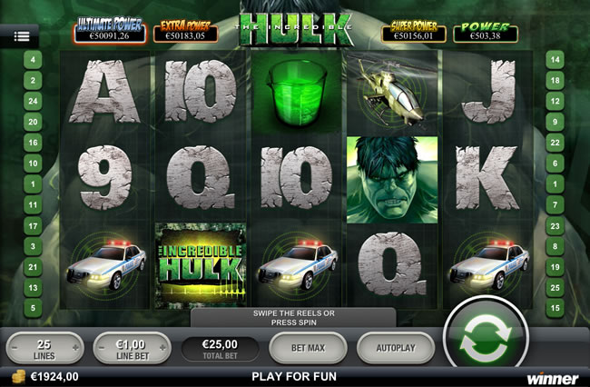 The Incredible Hulk Slot - Free to Play Online Game