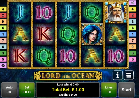 online casino slots lord of ocean tricks