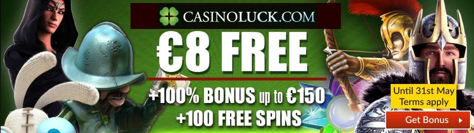 Casino Luck 8 euros free slider
