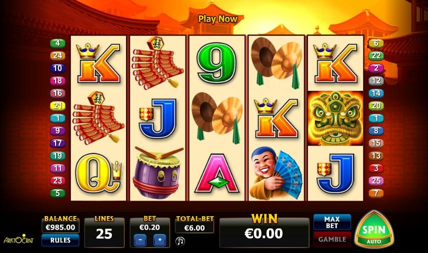 Double Happiness spelautomat - Spela Aristocrat Slots online