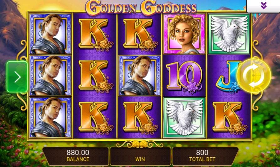 Golden Goddess IGT mobile slot
