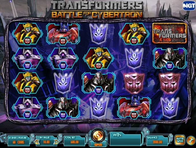 Transformers - Battle for Cybertron slot movie blog