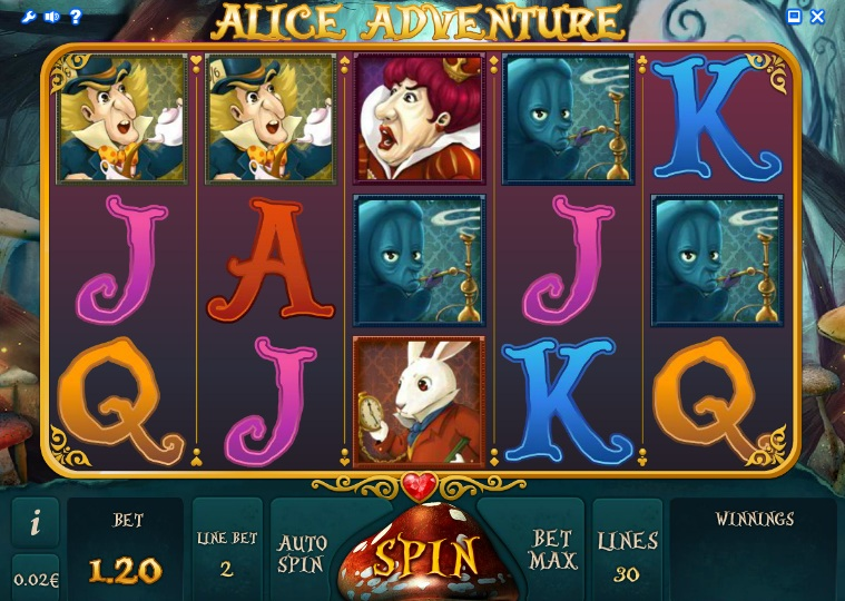 how to play alice in wonderland slots for fun