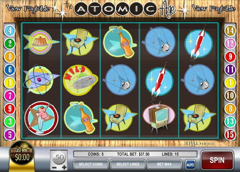 Atomic Age Slot Machine - Read the Review and Play for Free