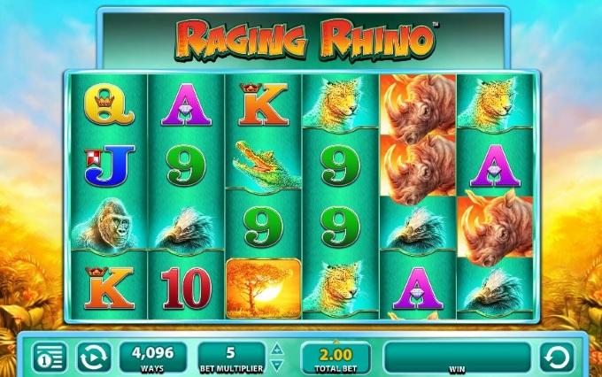 Raging Rhino sequel slots blog