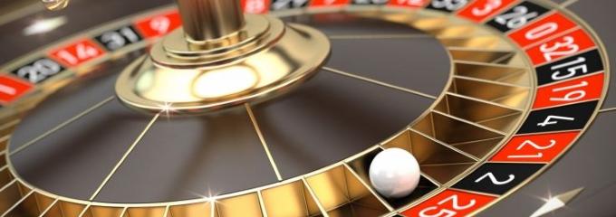 roulette ball on wheel