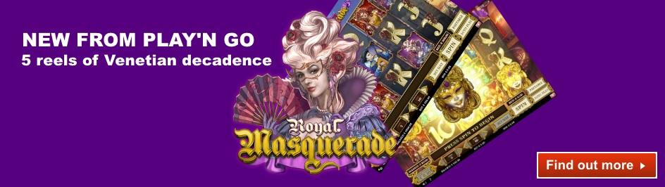 Royal Masquerade desktop slider