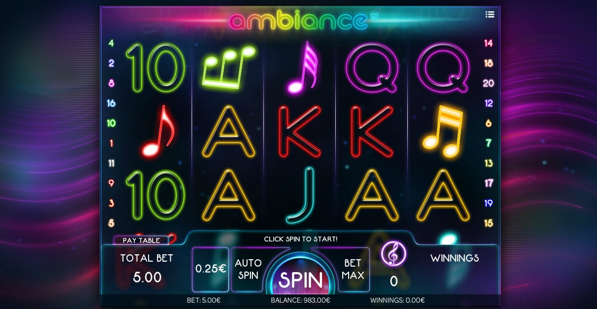 Ï»¿New Ambiance Slot by iSoftBet Wows With Musical Theme