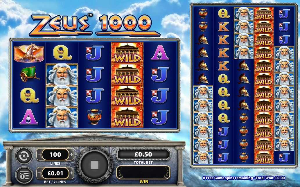 Zeus 1000 Wms Gaming Free Play Online Slot