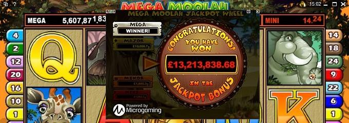 mega moolah 13.2m win