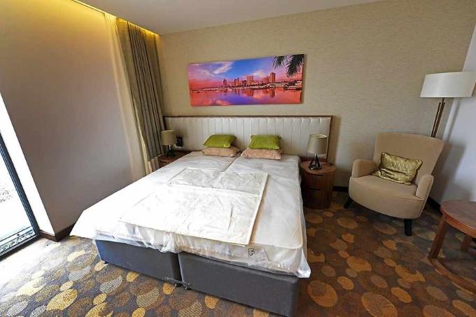 Hotel beds in Resorts World Birmingham