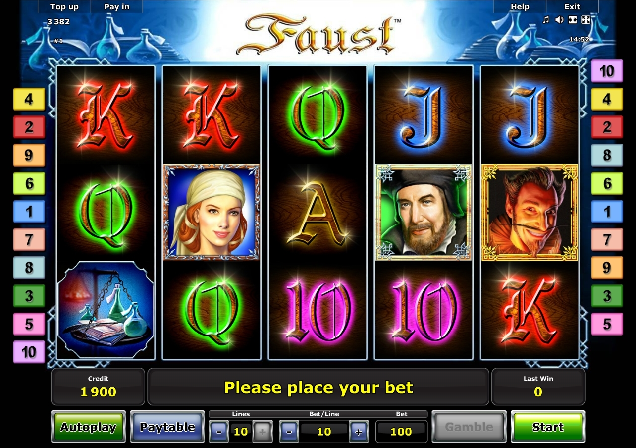 slot machines online faust symbol