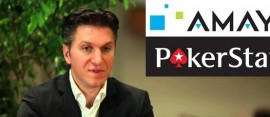 david baazov with pokerstars amaya logos