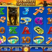 treasures of the pyramids slot main game