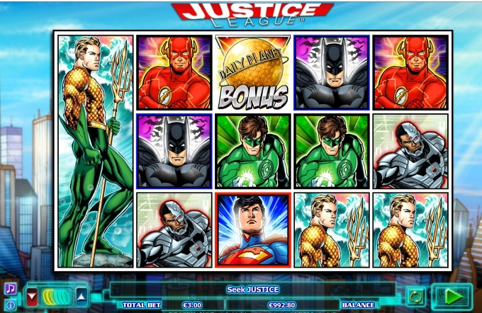 justice league slot screenshot