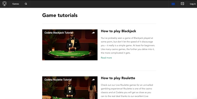 codeta game tutorials page
