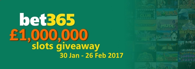 bet365 slots giveaway jan 2017