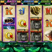 big thunder slot main game