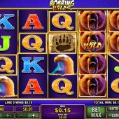 roaring wilds slot main game