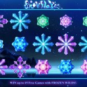 snowflakes slot main game