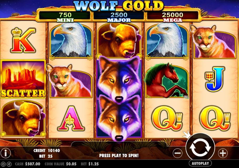 Wolf Gold slot from Pragmatic Play online demo