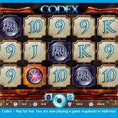 codex slot main game