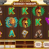 Age of The Gods goddess of wisdom slot game