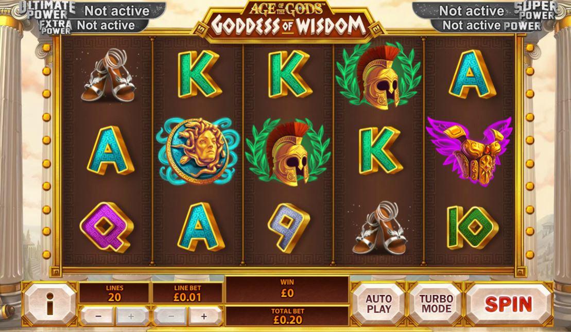 Golf age of the gods goddess of wisdom playtech slot game games